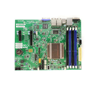 A1SRM2758FO SuperMicro Intel Atom C2758 DDR3 SATA3 V&4GBe MicroATX Motherboard (Refurbished)