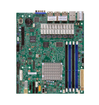 A1SRMLN7F2358O SuperMicro Intel Atom C2358 DDR3 SATA3 V&7GBe Microatx Motherboard & CPU Combo (Refurbished)