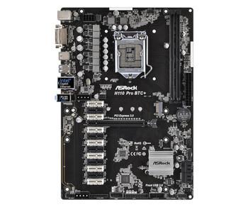 H110ProBTC+ ASRock Socket LGA 1151 Intel H110 Chipset 7th/6th Generation Core i7 / i5 / i3 / Pentium / Celeron Processors Support DDR4 2x DIMM 4x SATA