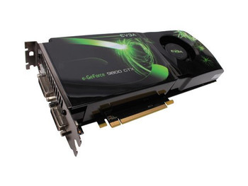 512-P3-N871-BR EVGA nVidia GeForce 9800GTX 512MB 256-Bit DDR3 PCI Express 2.0 x16 Dual DVI/ S-Video Out/ HDTV/ HDCP Ready/ SLI Supported Video Graphic