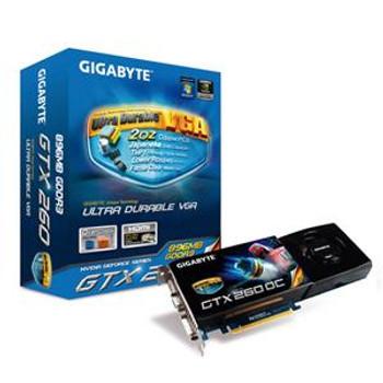 GV-N26OC-896I Gigabyte GIGA-BYTE GeForce GTX 260 Graphics Card nVIDIA GeForce GTX 260 650MHz 896MB GDDR3 SDRAM 448bit PCI Express 2.0 x16 HD-15 HDMI D