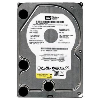WD5001ABYS-01YNA0 Western Digital 500GB 7200RPM SATA 3.0 Gbps 3.5 16MB Cache RE2 Hard Drive