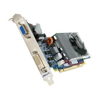 GM94W0GN2E1FT PNY GeForce 9400 GT 1GB 128-bit DDR2 12.8Gbps DVI-I and DVI-I Mini DIN HDMI VGA PCI Express Video Graphics Card