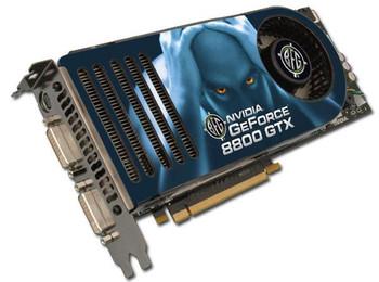 BFGR88768GTXE BFG GeForce 8800 GTX 768MB 384-Bit GDDR3 PCI Express x16 HDCP Ready SLI Support HDCP Video Graphics Card