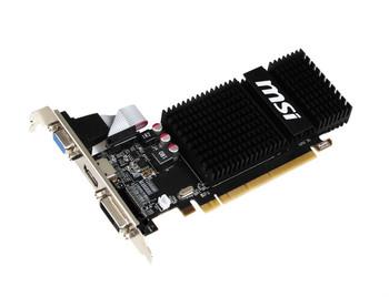 R5230-2GD3H-LP MSI Radeon R5 230 2GB 64-Bit GDDR3 PCI Express 2.1 x16 HDCP Ready Low Profile D-SUB DVI HDMI Video Graphics Card