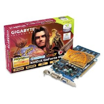 GV-NX66L128DP GIGA-BYTE GeForce 6600 LE Graphics Card