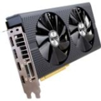 11260-02-20G Sapphire NITRO+ Radeon RX 480 Graphic Card 1.21 GHz Core 1.31 GHz Boost Clock 4GB GDDR5 PCI Express 3.0 Dual Slot Space Required 256 bit