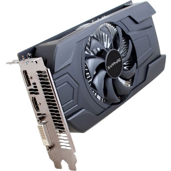 11257-10-20G Sapphire Radeon RX 460 Graphic Card 1.09 GHz Core 1.22 GHz Boost Clock 2GB GDDR5 PCI Express 3.0 Dual Slot Space Required 128 bit Bus Wid