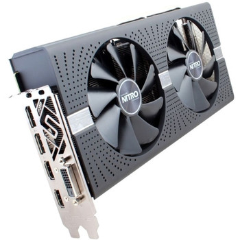 11265-07-20G Sapphire NITRO+ Radeon RX 580 Graphic Card 1.41 GHz Boost Clock 4GB GDDR5 Dual Slot Space Required 256 bit Bus Width Fan Cooler OpenGL 4.