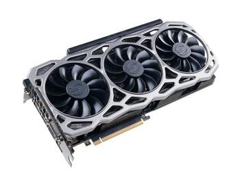 11G-P4-6694-KR EVGA GeForce GTX 1080 TI 11GB GDDR5X 352-Bit HDMI / 3x DisplayPort / Dual-Link DVI-D PCI-Express 3.0 Video Graphics Card