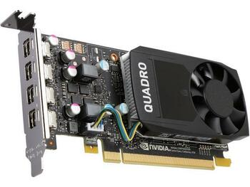 490-BDTE Dell 2GB Nvidia Quadro P600 4 x DisplayPort Full Height Video Graphic Card