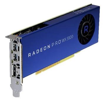 490-BDZW Dell 4GB AMD Radeon Pro WX 3100 2 x Mini DisplayPort Full Height Video Graphic Card