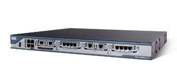 CISCO2801 Cisco 2801 Router AC Power 2FE 4SLOT (2HWIC) 2AIM IP Base 64F/128D (Refurbished)
