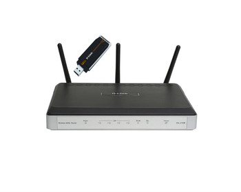 DSL-2740B/EU D-Link Wireless N300 DSL Modem Router (Refurbished)