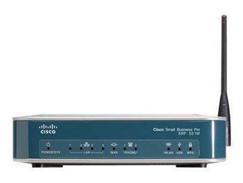 SRP521W-U-A-K9 Cisco Wireless Router IEEE 802.11n 1 x Antenna ISM Band 54 Mbps Wireless Speed 4 x Network Port 1 x Broadband Port USB Desktop (Refurbi