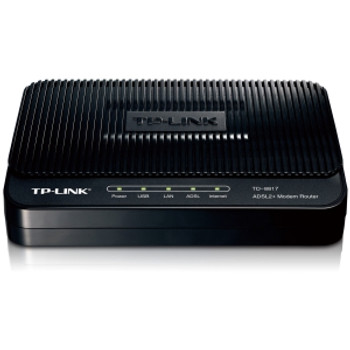 TD-8817 TP-Link 1 Ethernet Port and 1 USB Port ADSL2+ Router with bridge and NAT Router Trendchip ADSL/ADSL2/ADSL2+ Annex A with ADSL spliter (Refurbi