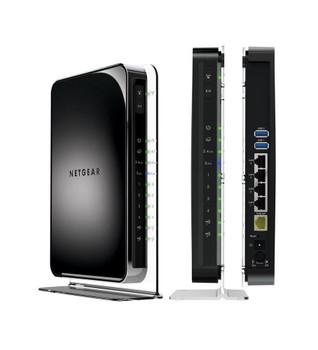 WNDR4500-100NAS NetGear N900 4-Ports 10/100/1000Mbps Lan and 1x 10/100/1000Mbps WAN Port Wireless Dual Band Gigabit Router (Refurbished)