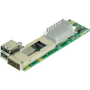 AOC-CIBQ-M1 SuperMicro ConnectX-3 InfiniBand QDR (1x QSFP Port & 2x USB Ports) PCI Express3.0 x8 microLP Network Adapter