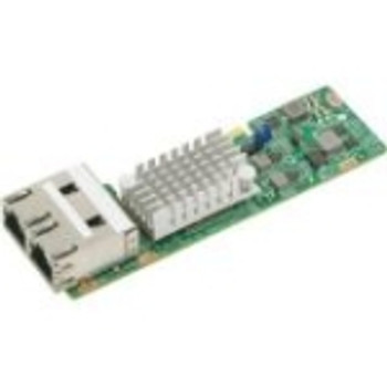 AOC-CTGS-I2T SuperMicro Intel X550 Dual-Ports 10Gbps 10GBase-T PCI Express 3.0 x4 Gigabit Ethernet MicroLP Network Adapter