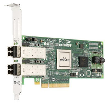 LPE12002 Emulex Network LightPulse Dual-Ports 8Gbps Fibre Channel PCI Express 2.0 x8 Low Profile MD2 Host Bus Network Adapter