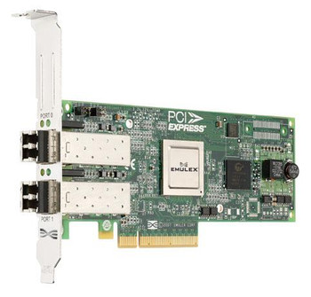 LPE12002-M8 Emulex Network LightPulse Dual-Ports 8Gbps Fibre Channel PCI Express 2.0 x8 Low Profile MD2 Host Bus Network Adapter