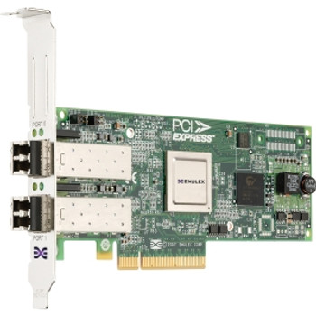 LPE12002-X8 Emulex Network LightPulse Dual-Ports 8Gbps Fibre Channel PCI Express 2.0 x8 Low Profile MD2 Host Bus Network Adapter