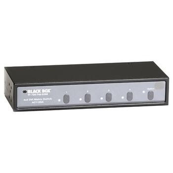 AC1125A Black Box NIB-4x2 DVI Matrix Switch with Audio and RS-232 Control (Refurbished)