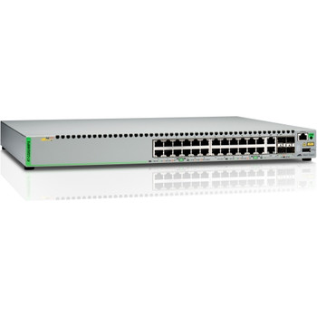 AT-GS924MPX-10 Allied Telesis 24-Ports 10/100/1000Base-T PoE Gigabit Ethernet Managed Switch with 2x SFP/Copper Combo Ports and 2x SFP/SFP+ Uplink Slo
