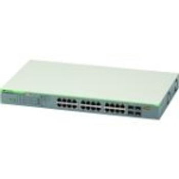 AT-GS950/28PS-10 Allied Telesis 24-Ports 10/100/1000t Websmart Managed Switch With 4 Sfp Combo Ports And Poe+ (Refurbished)