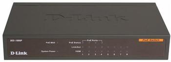 DES-1008P D-Link 8-Ports Desktop Ethernet Switch With 4 PoE Ports (Refurbished)