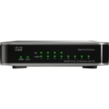 SD208P-RF Cisco 8-Ports RJ-45 10/100Mbps Fast Ethernet Unmanaged Switch with PoE (Refurbished)