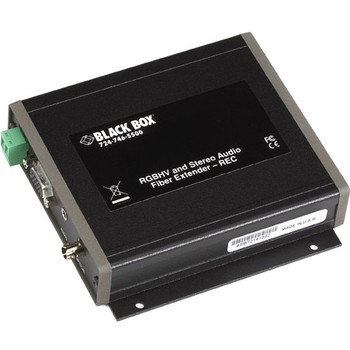 AC1021A-REC Black Box Rgbhv and Stereo Audio- Fiber Extender-rec