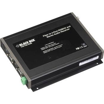 AC1023A Black Box RGBHV/Stereo-Audio Fiber Extender Receivers (1) ST Optical Inp