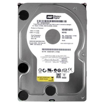 WD4001ABYS-01YNA0 Western Digital 400GB 7200RPM SATA 3.0 Gbps 3.5 16MB Cache RE2 Hard Drive