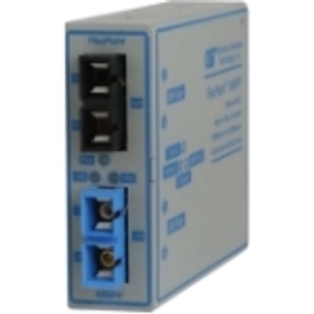 4440-2 FlexPoint 1000Mbps Gigabit Ethernet Fiber to Fiber Media Converter SC Multimode 550m to Single-Mode 34km 1 x 1000BASE-SX;1 x 1000BASE-LX;Univ.