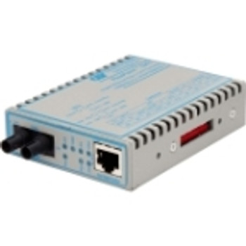 4707-0 FlexPoint 10/100/1000 Gigabit Ethernet Fiber Media Converter RJ45 ST Single-Mode 12km 1 x 10/100/1000BASE-T; 1 x 1000BASE-LX; No Power Adapter;