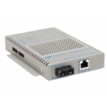 9422-0-12 OmniConverter 10/100/1000 PoE+ Gigabit Ethernet Fiber Media Converter Switch RJ45 SC Multimode 550m 1 x 10/100/1000BASE-T; 1 x 1000BASE-SX;