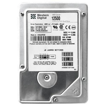 AC12500 Western Digital 2GB 5400RPM ATA 33 3.5 256KB Cache Caviar Hard Drive