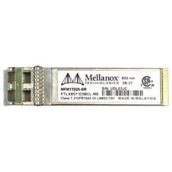 MFM1T02A-SR Mellanox 10Gbps 10GBase-SR Multi-Mode Fibre 300m 850nm LC Connector SFP+ Transceiver Module