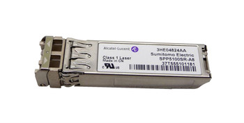 3HE04824AA Alcatel 10Gbps 10GBASE-SR LC Connector SFP+ Transceiver Module (Refurbished)