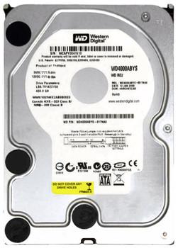 WD4000ABYS Western Digital 400GB 7200RPM SATA 3.0 Gbps 3.5 16MB Cache Caviar Hard Drive