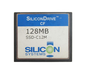 SSD-C12M-3112 SiliconSystems SiliconDrive 128MB ATA/IDE (PATA) CompactFlash (CF) Type I Internal Solid State Drive (SSD)