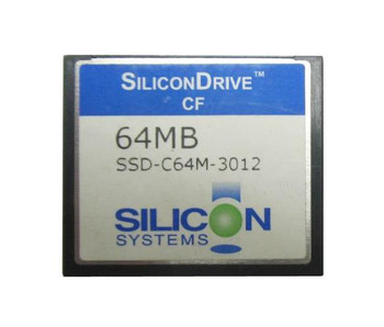 SSD-C64MI-3012 SiliconSystems SiliconDrive 64MB ATA/IDE (PATA) CompactFlash (CF) Type I Internal Solid State Drive (SSD) (Industrial Grade)