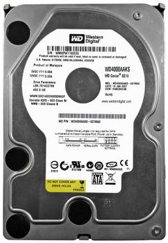 WD4000AAKS-00TMA0 Western Digital 400GB 7200RPM SATA 3.0 Gbps 3.5 16MB Cache Caviar Hard Drive