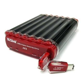 CSC-2T-U3 Buslink CipherShield 2TB USB 3.0 Encryption External Hard Drive (Refurbished)