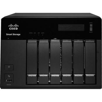 NSS326D06-K9 Cisco NSS 326 Network Storage Server Intel Atom D510 1.66 GHz 6TB (6 x 1 TB) RJ-45 Network USB eSATA VGA (Refurbished)