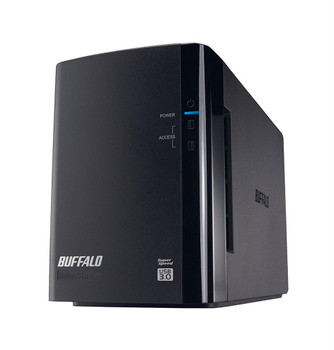 HD-WH8TU3R1-A1 Buffalo 8TB Drivestation Duo Usb 3.0 Ext 2 X 4TB Hard Drive Raid Array (Refurbished)