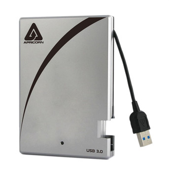 A25-3USB-2000 Apricorn Aegis Portable 3.0 2TB 5400RPM USB 3.0 8MB Cache 2.5-inch External Hard Drive (Refurbished)