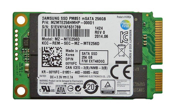 MZMTE256HMHP000D1 Samsung PM851 Series 256GB TLC SATA 6Gbps (AES-256) mSATA Internal Solid State Drive (SSD)