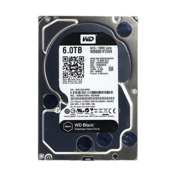 WD6001FZWX Western Digital 6TB 7200RPM SATA 6.0 Gbps 3.5 128MB Cache Black Hard Drive